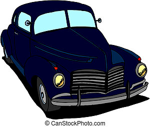 auto, vektor, retro