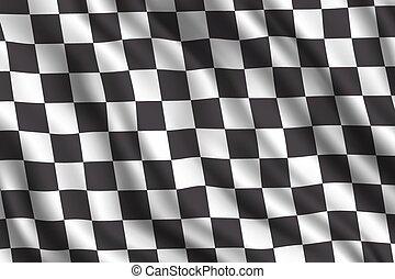 auto, verzameling, het snelen, 3d, realistisch, vlag