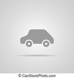 auto, vettore, icona