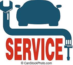 auto, vettore, riparazione