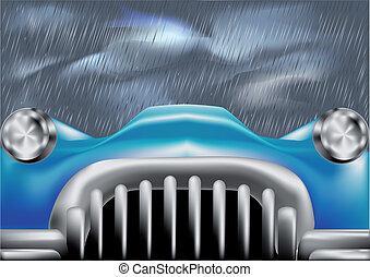 auto, voorst dekken