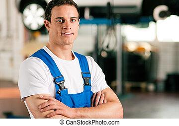 auto, werkstatt, mechaniker
