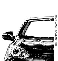 auto, witte , black
