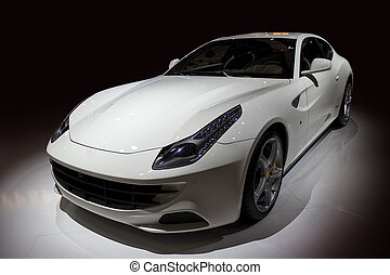 auto, witte , sportende, luxe