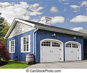 auto, zwei, garage