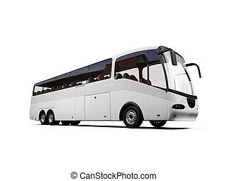 autobús, aislado, vista