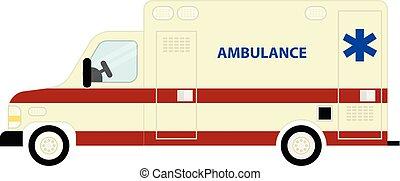 autobús, ambulancia, icono