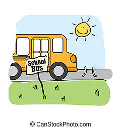 autobús, escuela, diseño