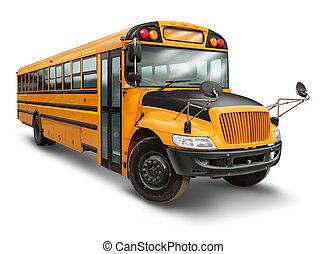 autobús, escuela