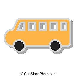 autobús, escuela, juguete, icono