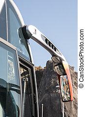 autobús, estacionado