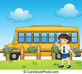 autobús, estudiante de la escuela