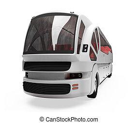 autobús, futuro, concepto, aislado, vista