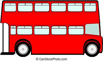 autobús, londres, rojo