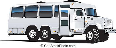 autobús, todo terreno