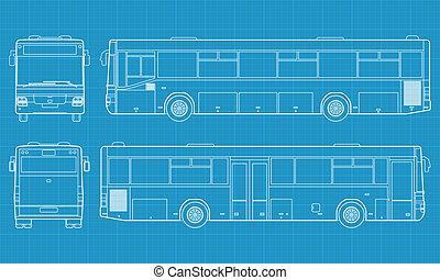 autobús, vector