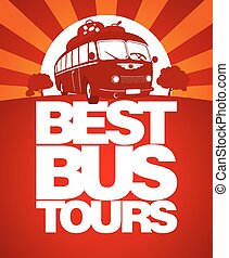 autobús, viaje, diseño, template., mejor