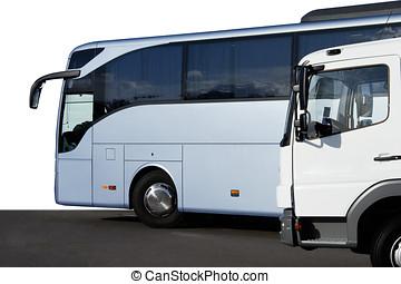 autobús, y, camión