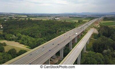 autobahn, duitser, aanzicht, werken, bouwsector, ...