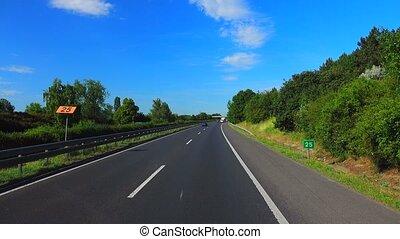 autobahn going on Slovakia