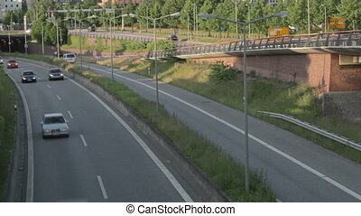 Autobahn in Hamburg, time lapse. - Traffic timelapse....
