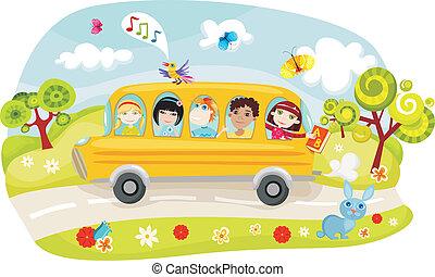 autobus, école