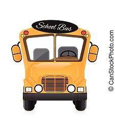 autobus, école, illustration