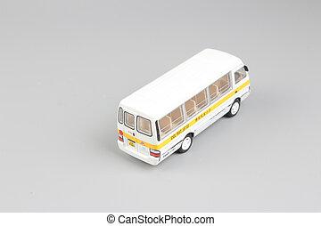 autobus, école, minimal, fond