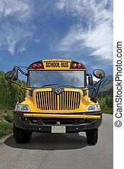 autobus, école, pays