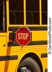 autobus, école, stop
