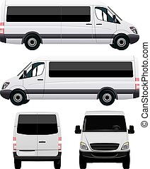autobus, blanc