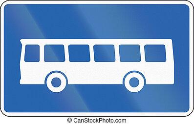 autobus, distance, arrêt, long, islande