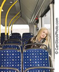 autobus, femme