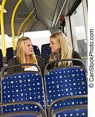 autobus, femmes