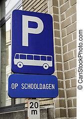 autobus, hollandais, stop