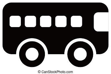 autobus, icône