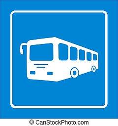 autobus, icon., signe