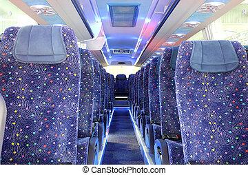 autobus, intérieur, nouveau