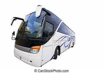 autobus, isolato