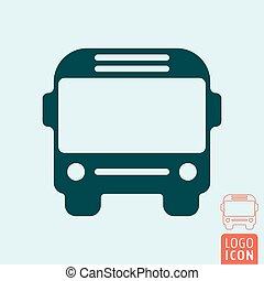 autobus, isolato, icona