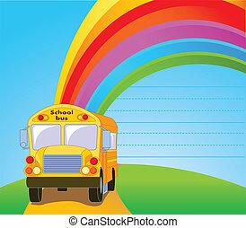 autobus jaune école, fond