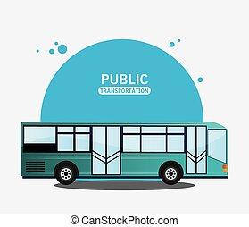 autobus, moderne, transport commun