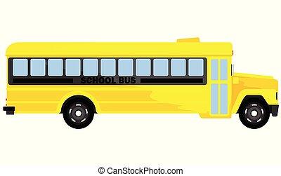 autobus navette, école