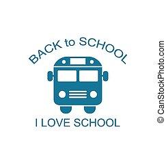 autobus, scuola, isolato