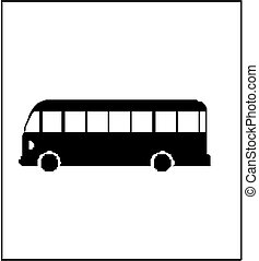 autobus, silueta