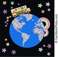autobus, szkoła