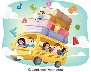 autobus, sztubacy, stickman