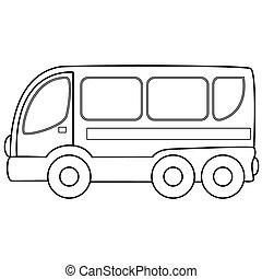 autobus, toy., vettore, illustrazione