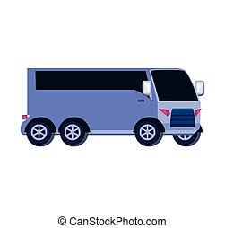autobus, trasporto, isolato, icona