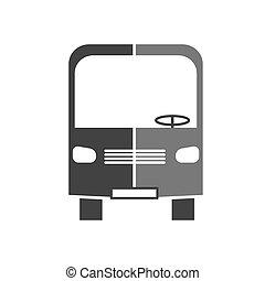 autobus, vettore, silhouette, icona